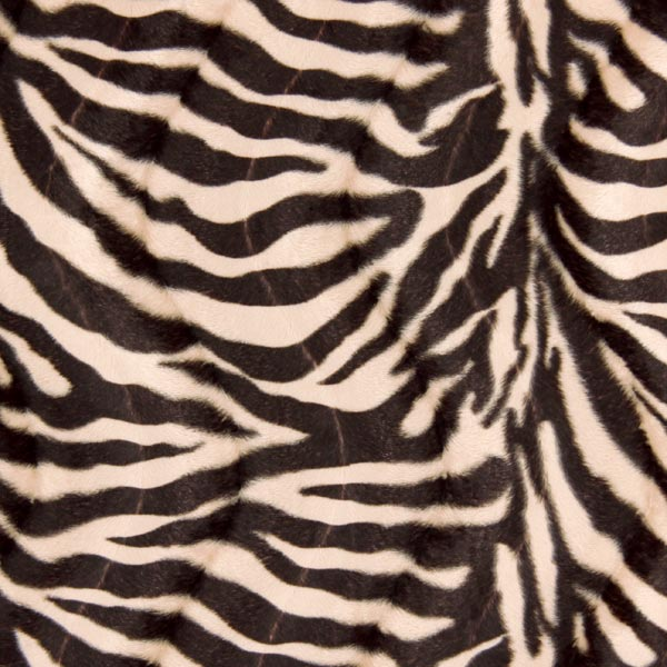 Kunstpels zebra – noir/blanc