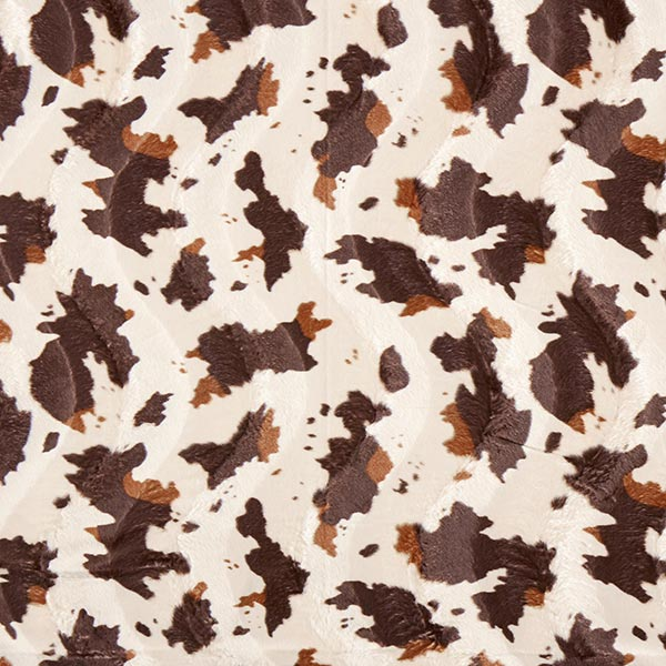 Tierfellimitat Kuh – braun/weiss