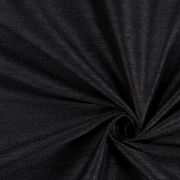 Dupionseide – schwarz