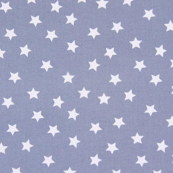 Tissu en coton Popeline Petites étoiles – gris clair