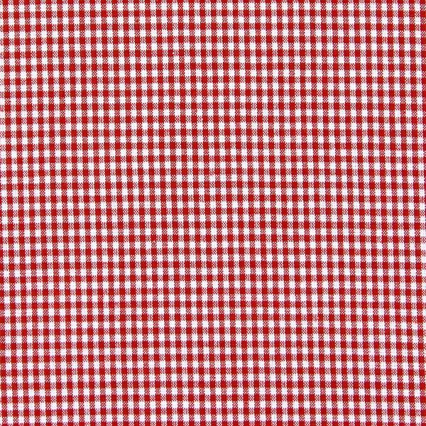 Tissu en coton Vichy - 0,2 cm – rouge vif