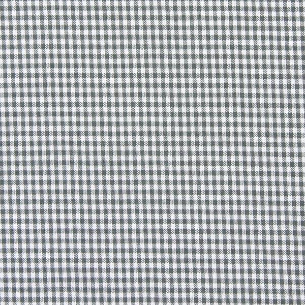 Tissu en coton Vichy - 0,2 cm – gris
