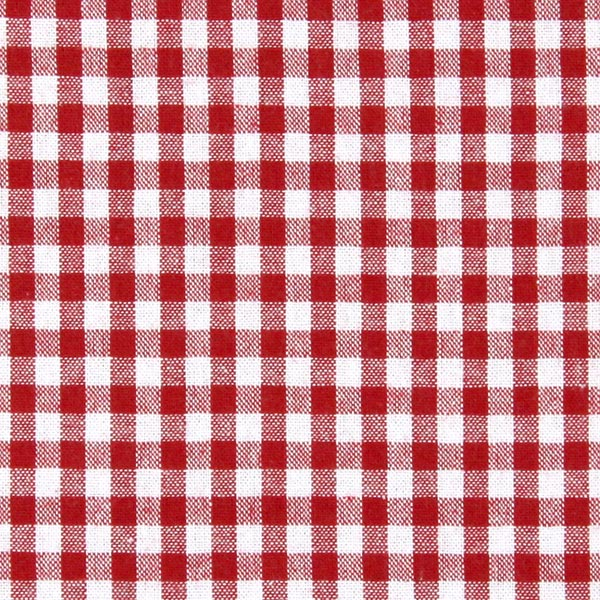 Tissu en coton Vichy - 0,5 cm – rouge vif