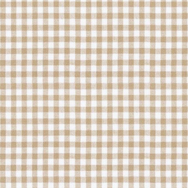 Tissu en coton Vichy - 0,5 cm – marron clair