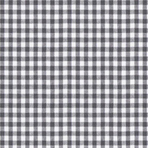 Tissu en coton Vichy - 0,5 cm – gris