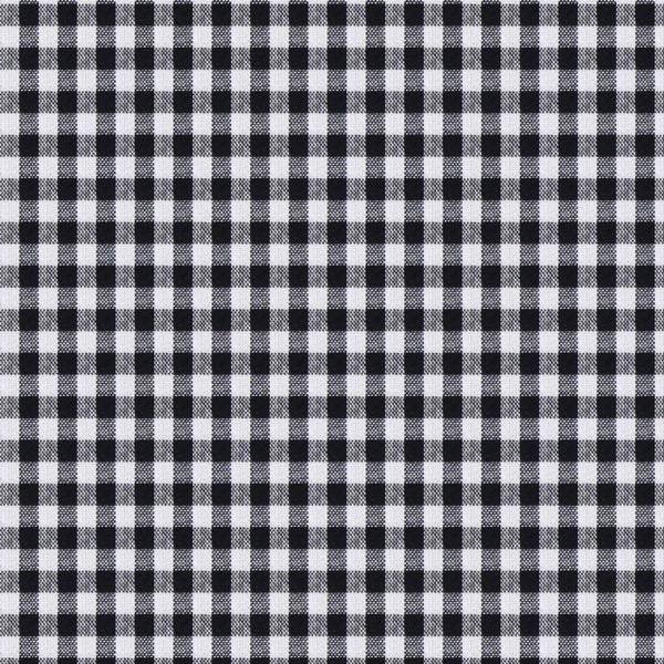 Tissu en coton Vichy - 0,5 cm – noir