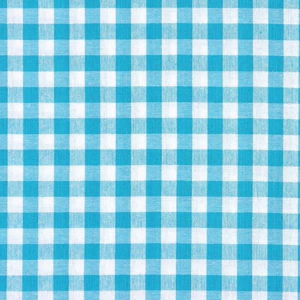 Tissu en coton Vichy - 1 cm – bleu turquoise