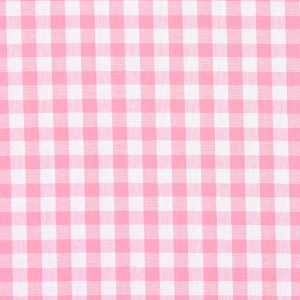 Tissu en coton Vichy - 1 cm – rose