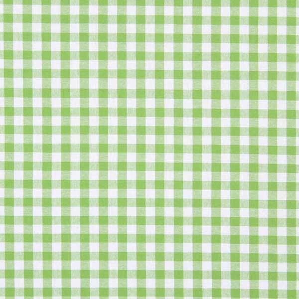 Tissu en coton Vichy - 1 cm – vert pomme