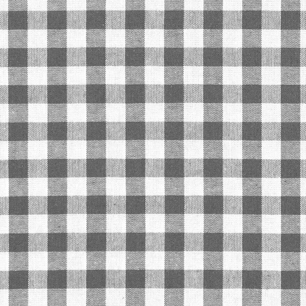 Tissu en coton Vichy - 1 cm – gris