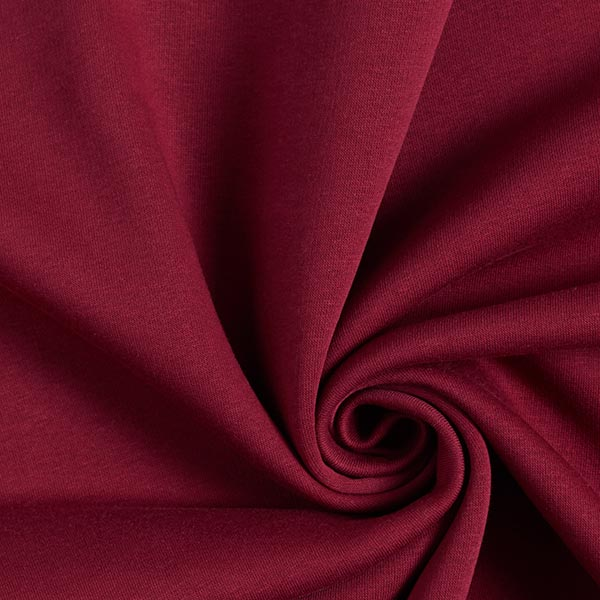 Sweatshirt gratté – rouge bordeaux