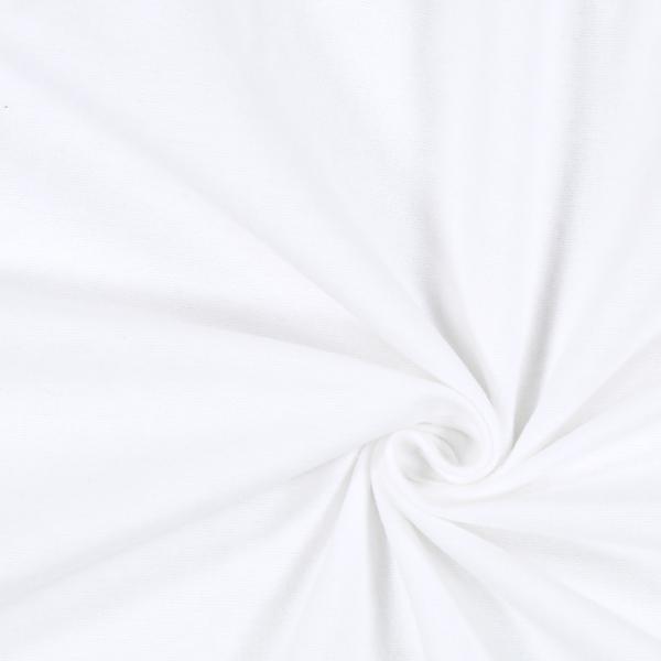 Baumwollstoff Molton Uni 4 - weiss