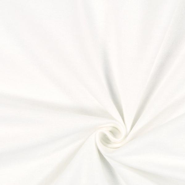 Baumwollstoff Molton Uni 5 - wollweiss