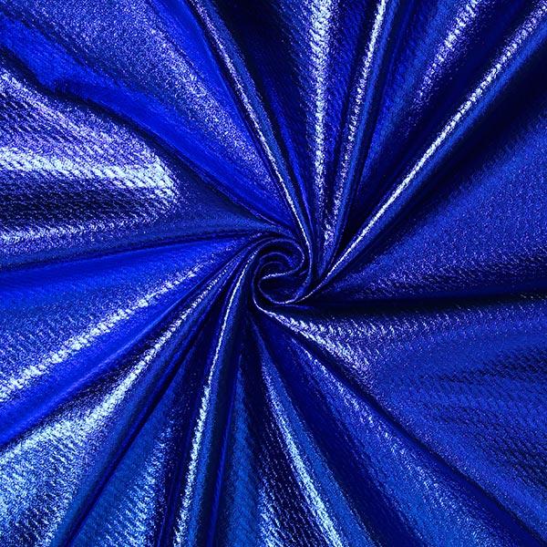 Jersey feuille Structure – bleu roi