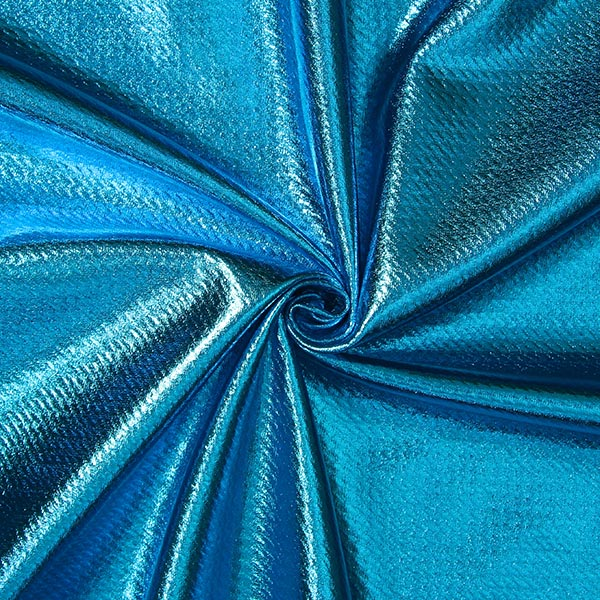 Jersey feuille Structure – turquoise