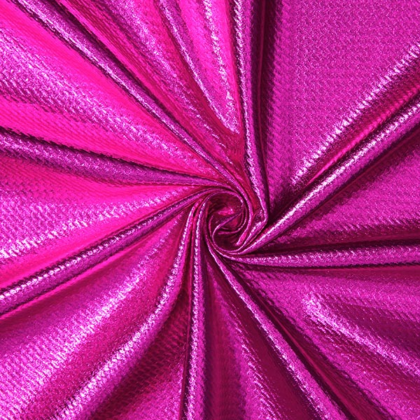 Jersey feuille Structure – rose vif