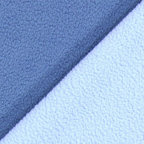 Polaire Doubleface – bleu jean/bleu