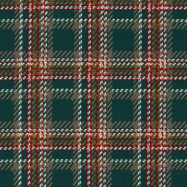 Tissu pour chemisier Stretch Imprimé carreaux – vert foncé/rouge