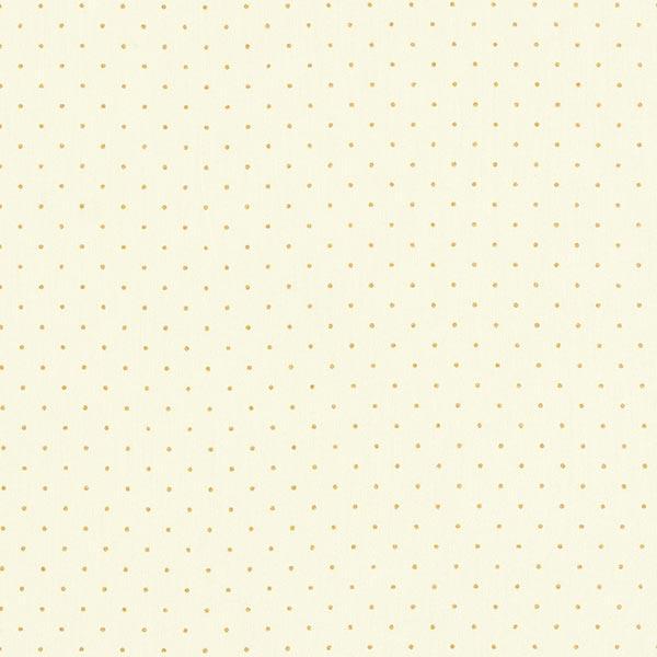 Baumwollpopeline Goldpunkte – wollweiss
