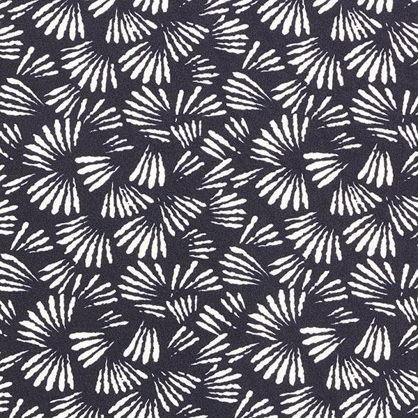 Crêpe-Scuba Traits de pinceau – navy/blanc