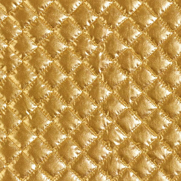 Steppstoff Metallik-Rauten – gold