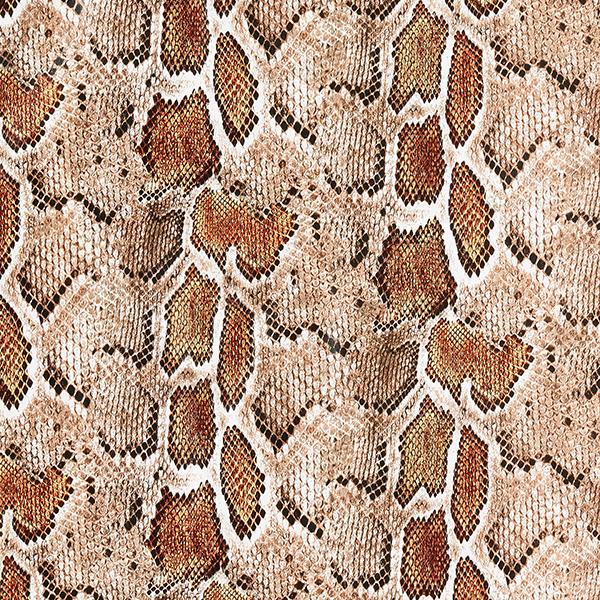 Similicuir Serpents – écru/marron