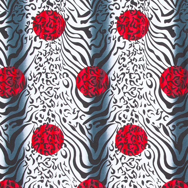 Jersey viscose Mélange tigre-léopard – rouge