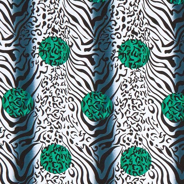 Jersey viscose Mélange tigre-léopard – vert