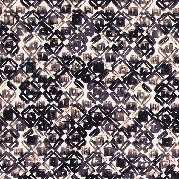 Jersey polyester Losanges & carreaux – gris