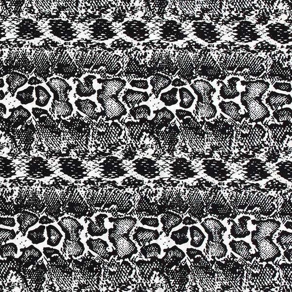 Tissu de pantalon Viscose stretch Serpent – blanc/noir