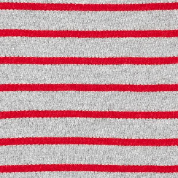 Tissu de sweatshirt Bandes tricotées – gris/rouge