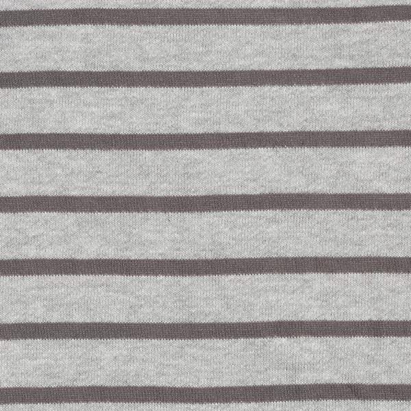 Tissu de sweatshirt Bandes tricotées – gris/gris foncé