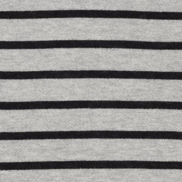 Tissu de sweatshirt Bandes tricotées – gris/noir