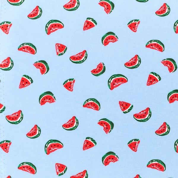 Tissu fin en viscose Melons – bleu clair