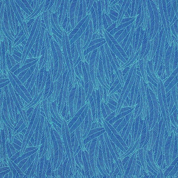 Baumwolljersey Bananenblätter – königsblau