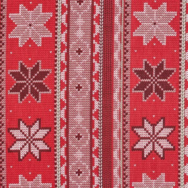 Dekostoff Canvas winterliches Strickmuster – rot