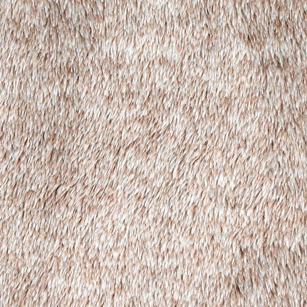 Dekostoff Plüschfell, Melange – sand