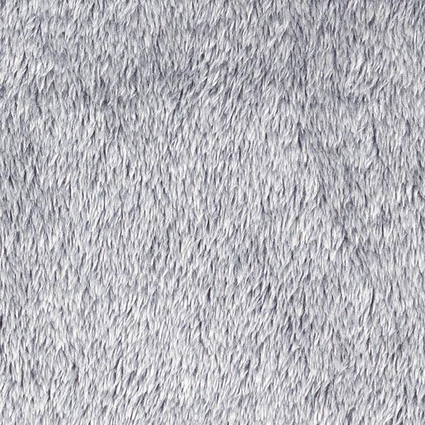 Dekostoff Plüschfell, Melange – grau