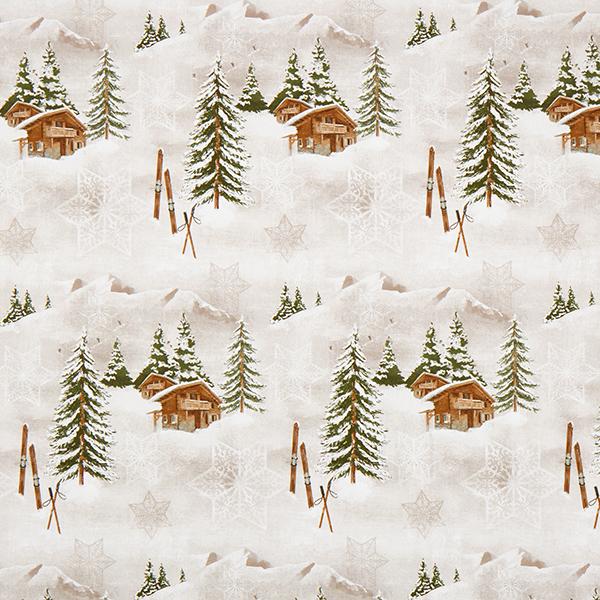 Dekostoff Halbpanama Winterwelt – beige