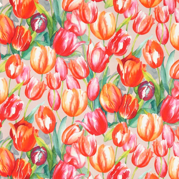Semi-panama Tulipes de Rotterdam – rouge vif