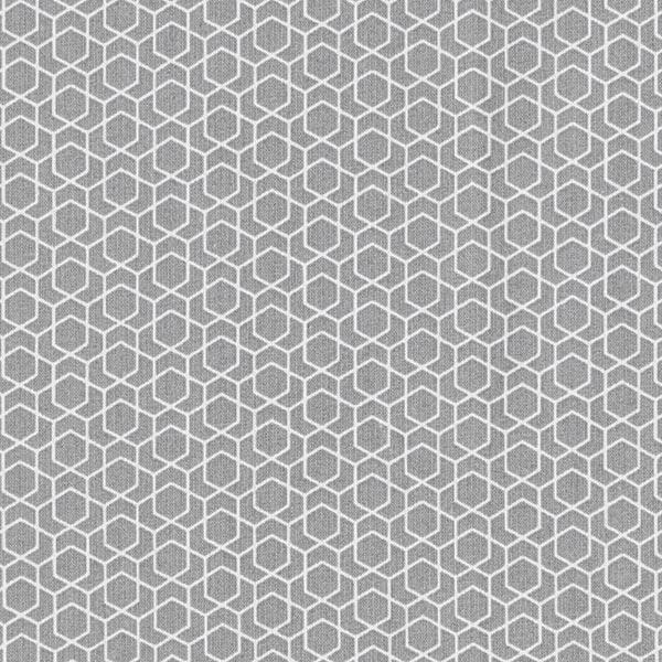 Tissu en coton Cretonne Labyrinthe – gris