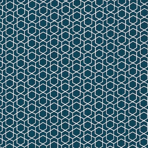 Baumwollstoff Cretonne Labyrinth – navy