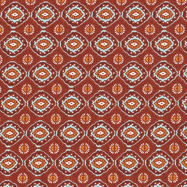 Tissu en coton Cretonne Amulette – terre cuite