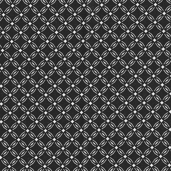 Baumwollstoff Cretonne Zirkel Kreise – schwarz