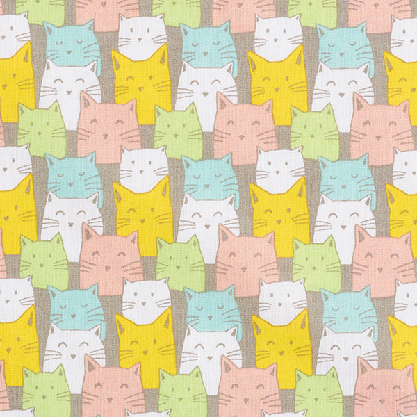 Baumwollpopeline Katzen – schlamm