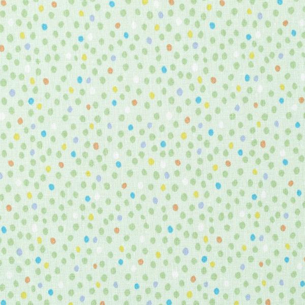 Baumwollpopeline Tupfen – pastellgrün/blau