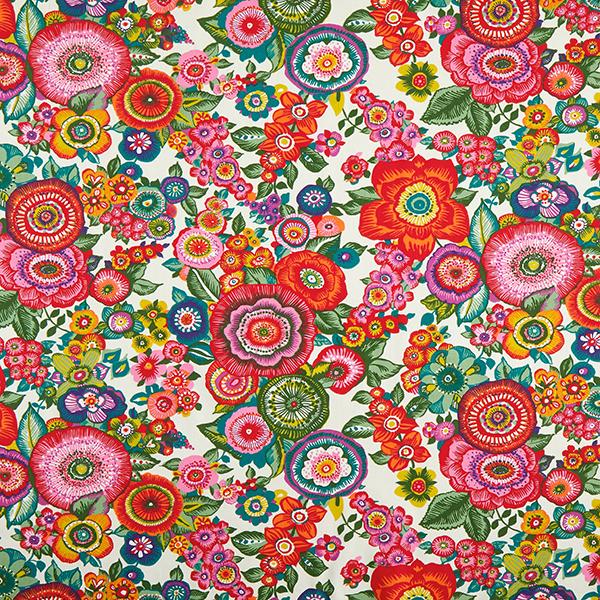 Baumwollstoff Cretonne Floral – rot