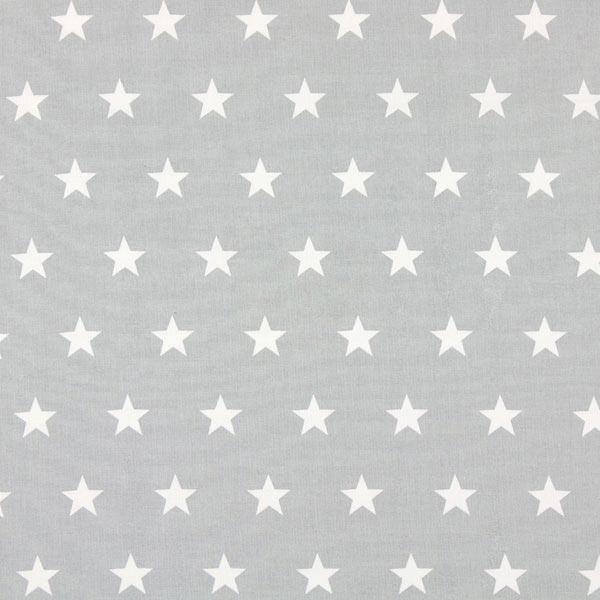 Tissu en coton Cretonne Étoiles – gris