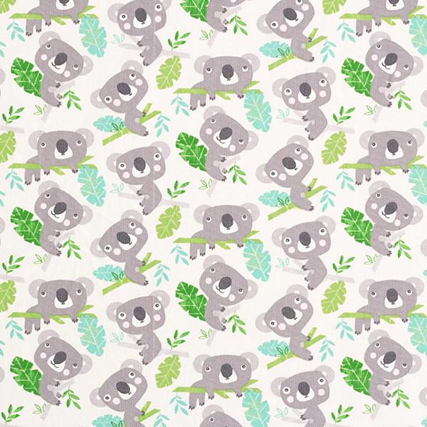 Baumwollstoff Cretonne Koalas – weiss