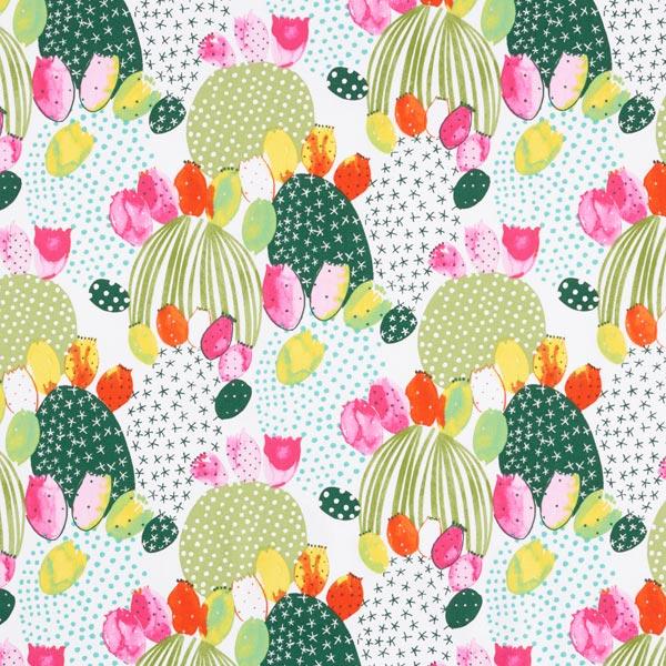 Baumwollstoff Cretonne Kaktus – grün